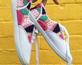 Hand embroidered one of a kind SNEAKERS!