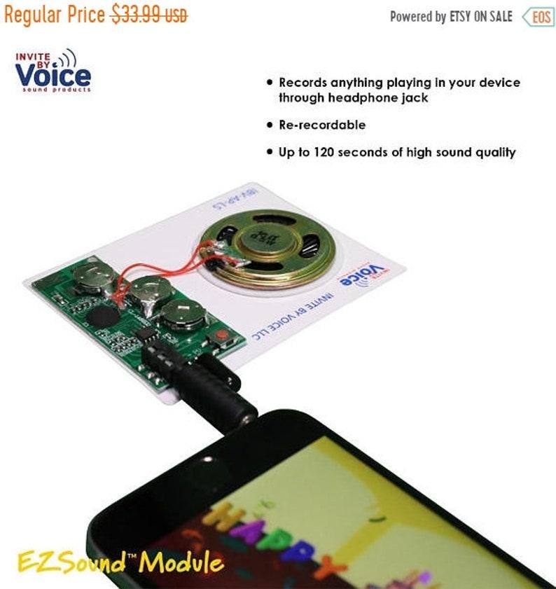 ON SALE - 25% OFF Set of 3 Re-Recordable Light Sensor Sound Module/Chip  (104 seconds)