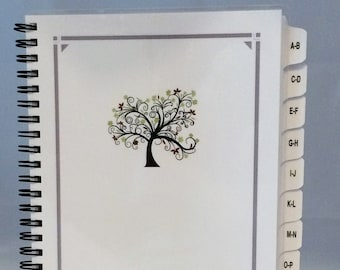 Large Print PASSWORD Book Internet Address Book with A-Z Tabs Personalized Gift Tree