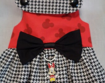 Minnie Black and Red Houndstooth dress