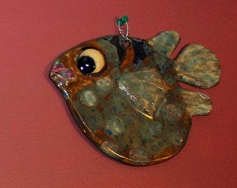 Ceramic Fish Wall Decor - Blowfish XVI
