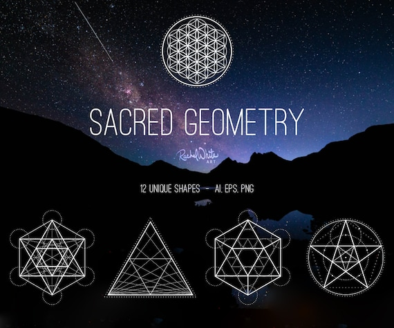sacred geometry vector illustrations ai eps and png 24 etsy