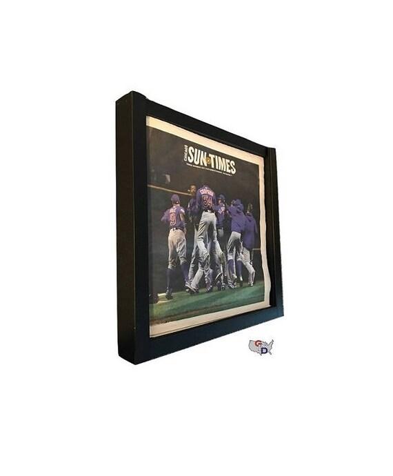 Newspaper Display Frame Case Black Shadow Box Magazine Extra | Etsy