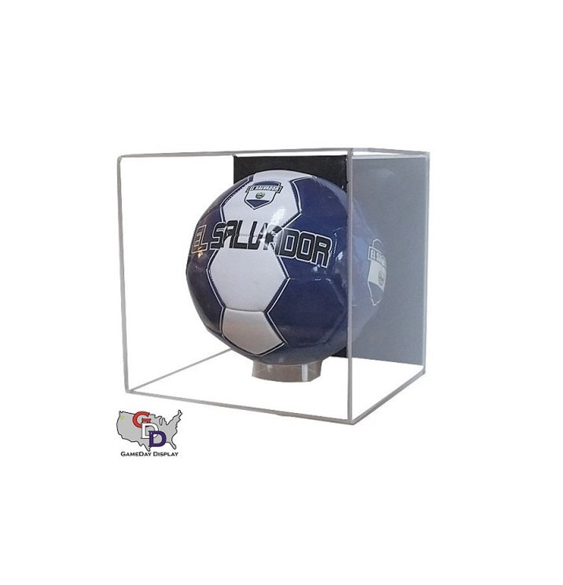 Display Cases Curved Acrylic Wall Mount Full Size Football Display Case Gameday Display
