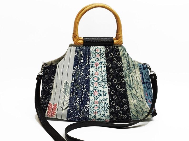 49c7add87b9 Dames bloemen stof tas met patchwork vintage Japanse stoffen   Etsy
