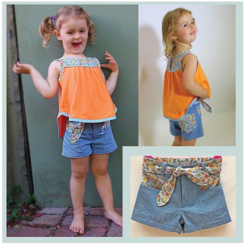 2f746f2b212 Toddler to Teens pdf shorts sewing pattern SANDY BAY Shorts