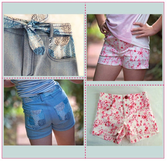 6ebf069aea4 SANDY BAY Shorts pdf sewing pattern classic jeans-style girls