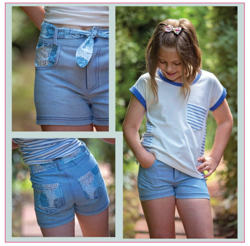 a31fdc60a70 Jeans-style shorts sewing pattern SANDY BAY Shorts girls