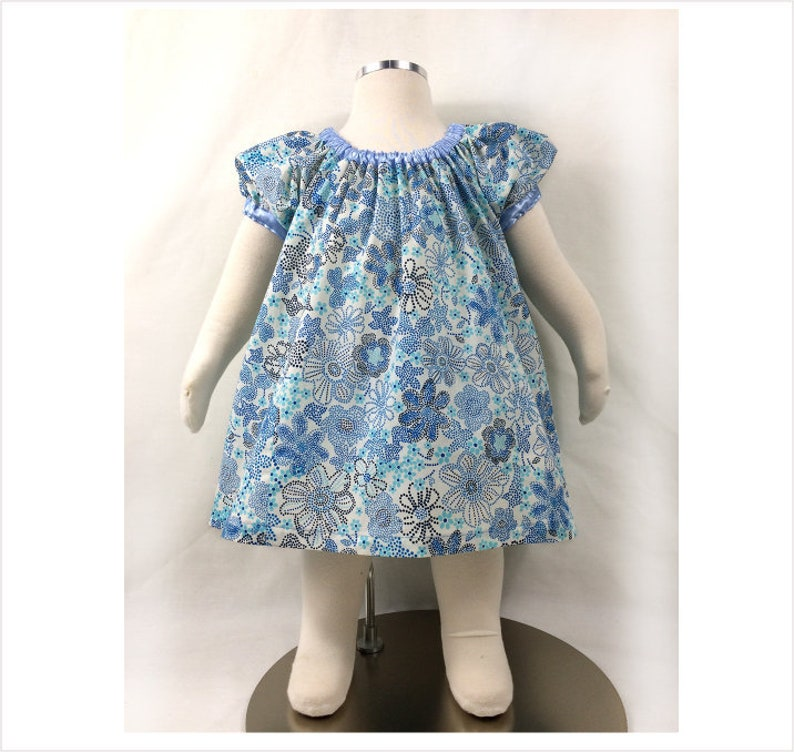 8f5d0a7cc2af3 Dress sewing pattern Sweet Pea girls dress pdf sewing pattern, baby dress  sewing pattern and tutorial sizes 6 months to 10 years.