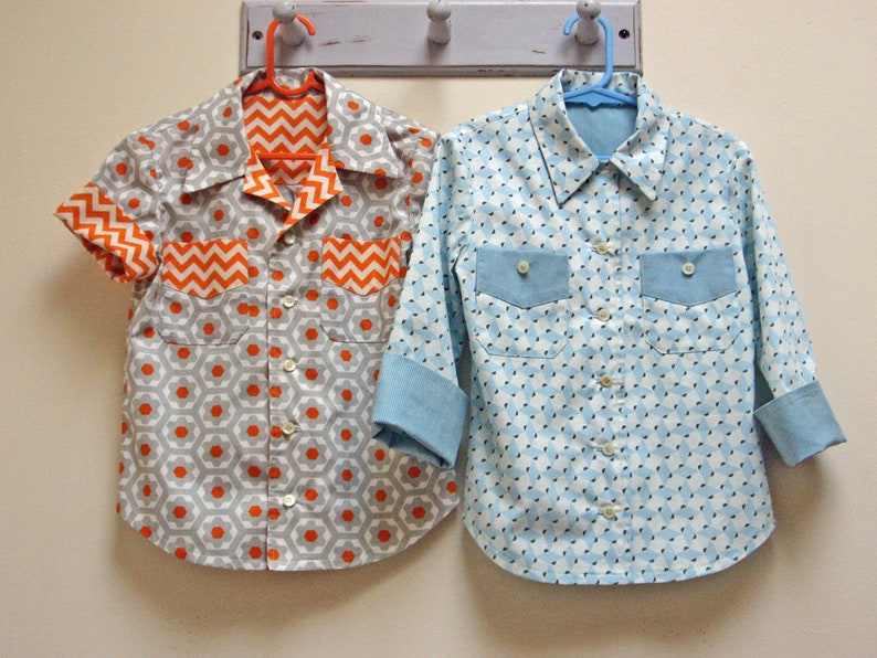 The WILLOW SHIRT sewing pattern for boys & girls kids shirt image 0