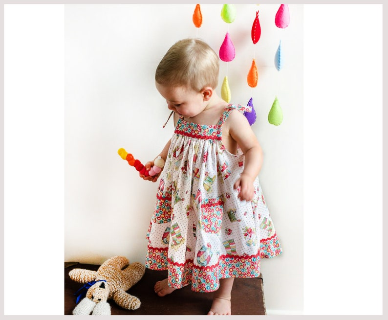 dbf0665e9de1 Baby dress sewing pattern girls dress pattern sizes 6-9