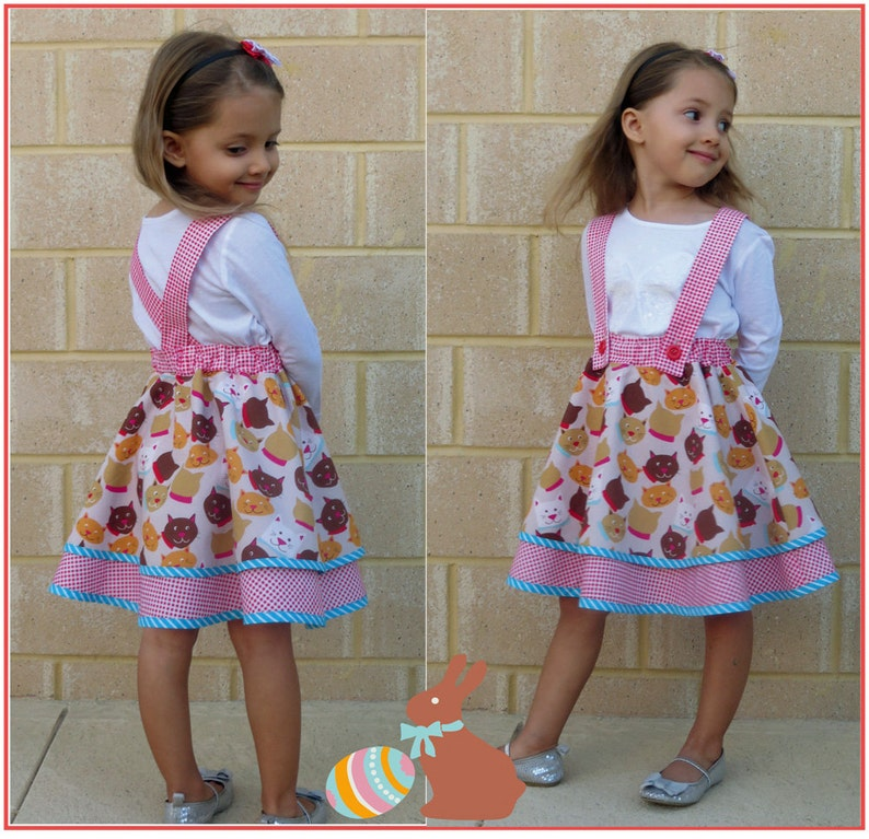 Girls flared skirt pattern the Topsy Twirly Skirt sizes 1 to image 0