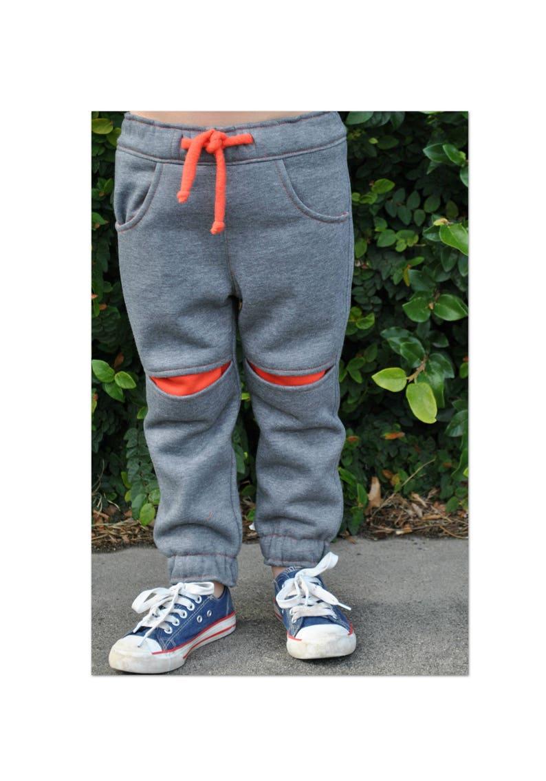 Children's fleece pants sewing pattern ROSCOE PANTS boys image 0