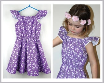 Romper, dress, playsuit, shorts sewing pattern, multiple style options.  Peachy Dress & Playsuit pdf pattern
