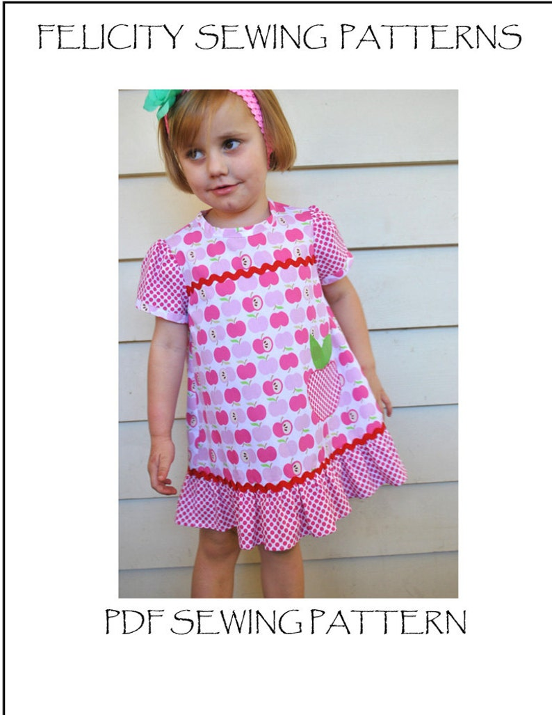 32359b1cb3fd Girls dress sewing pattern POLLY PIPPIN dress and top pdf