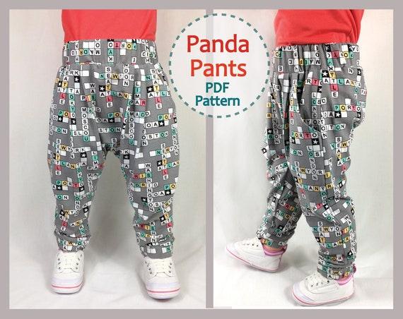 Sewing Pattern For Babies And Toddler Harem Pants Panda Pants Etsy