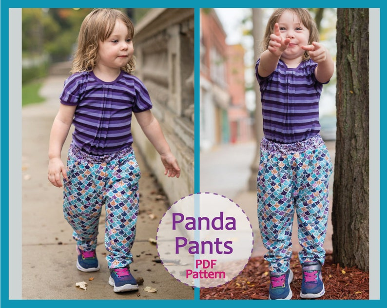 63ab3a8ac2a1 Harem pants pdf sewing pattern for babies and toddlers PANDA