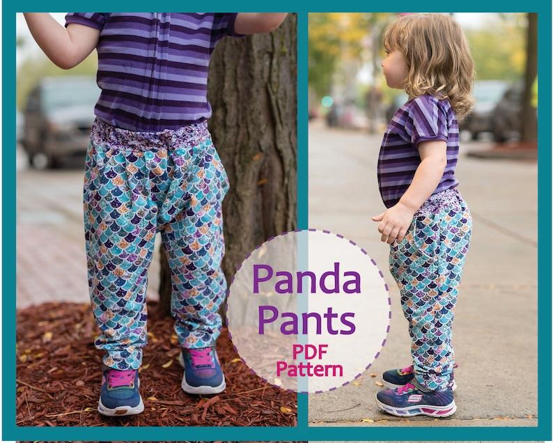 0e68c3eef8b9 Baby girl and boy harem pants sewing pattern PANDA PANTS