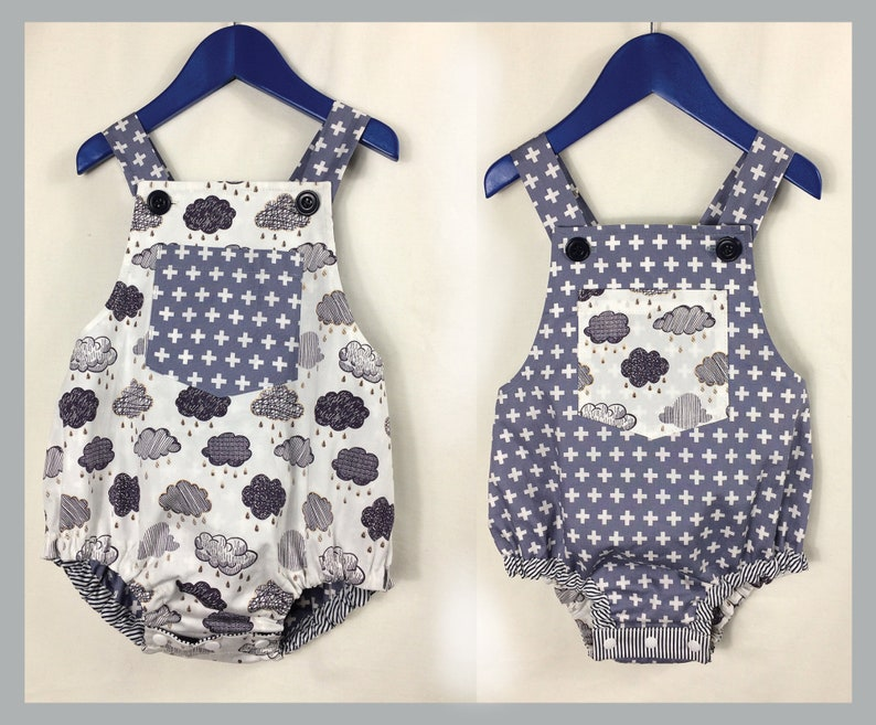 281f651eb670 Baby boy romper pdf sewing pattern DIMPLES reversible toddler