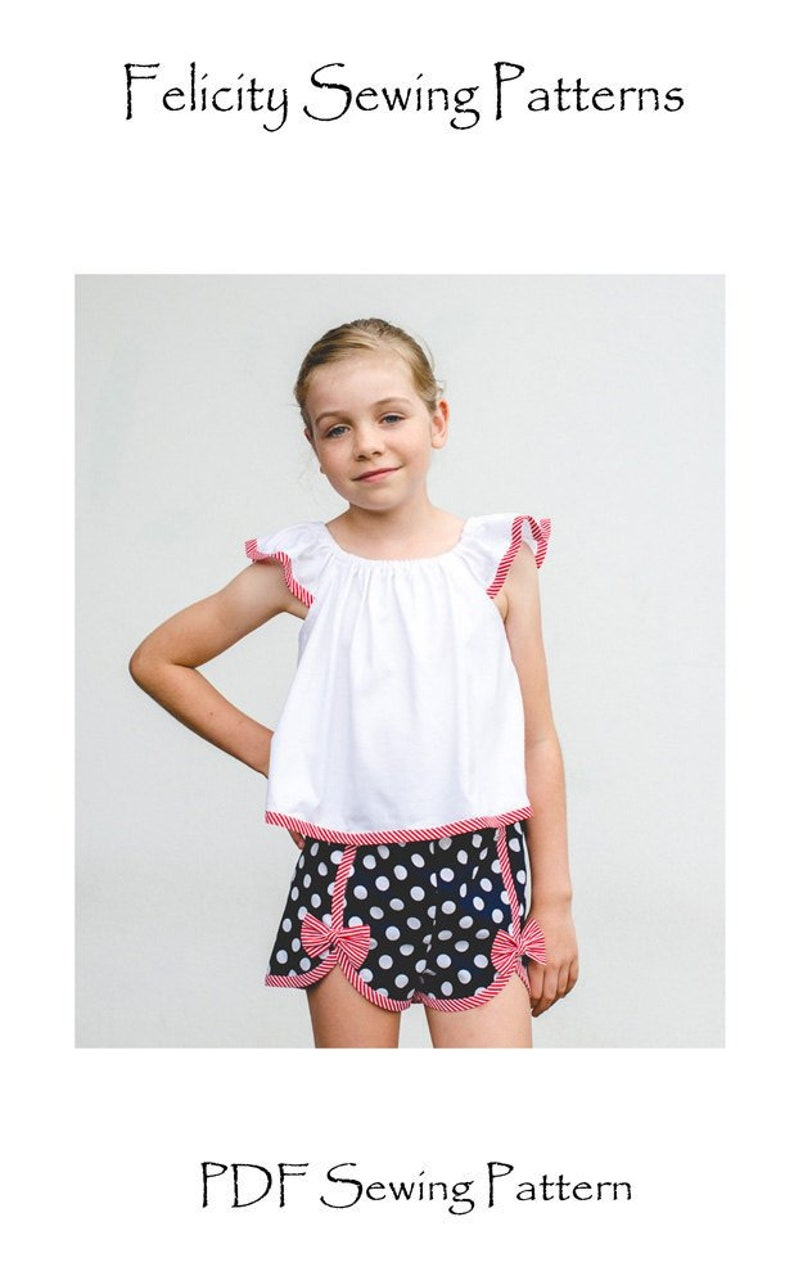 38367eced93 Girl s pdf shorts sewing pattern GIDGET Shorts by Felicity