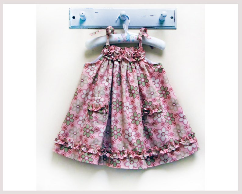 8354b33a38ab Baby and girls easy sundress sewing pattern Daisy Sundress