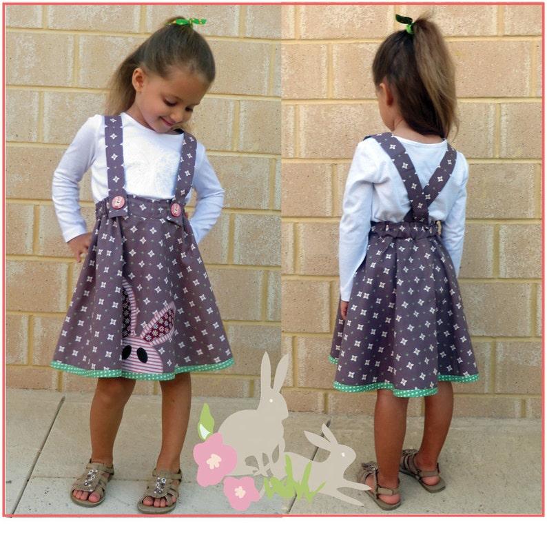 Girl's twirly skirt PDF sewing pattern Topsy Twirly Skirt image 0