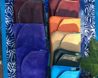 Little leather wallets upcycled