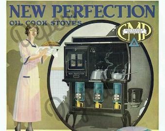 Digital Large Vintage 1910s Kitchen Print Stove Advertisement - Print at Home Decor - INSTANT DOWNLOAD
