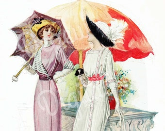 Digital Large Vintage 1910s Fashion Print Butterick Sewing Pattern Delineator Ad Magazine Page 1911 - Print at Home Decor - INSTANT DOWNLOAD