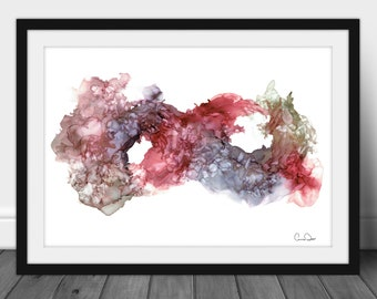 Digital Original Alcohol Ink Abstract Art Painting Infinity by Anna Depew - Print at Home Decor - INSTANT DOWNLOAD