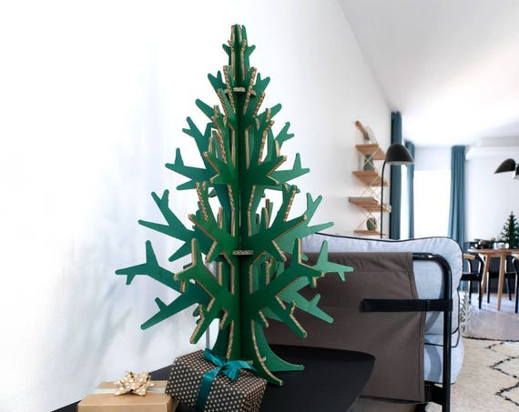 90 cm (2'95'') green cardboard christmas tree