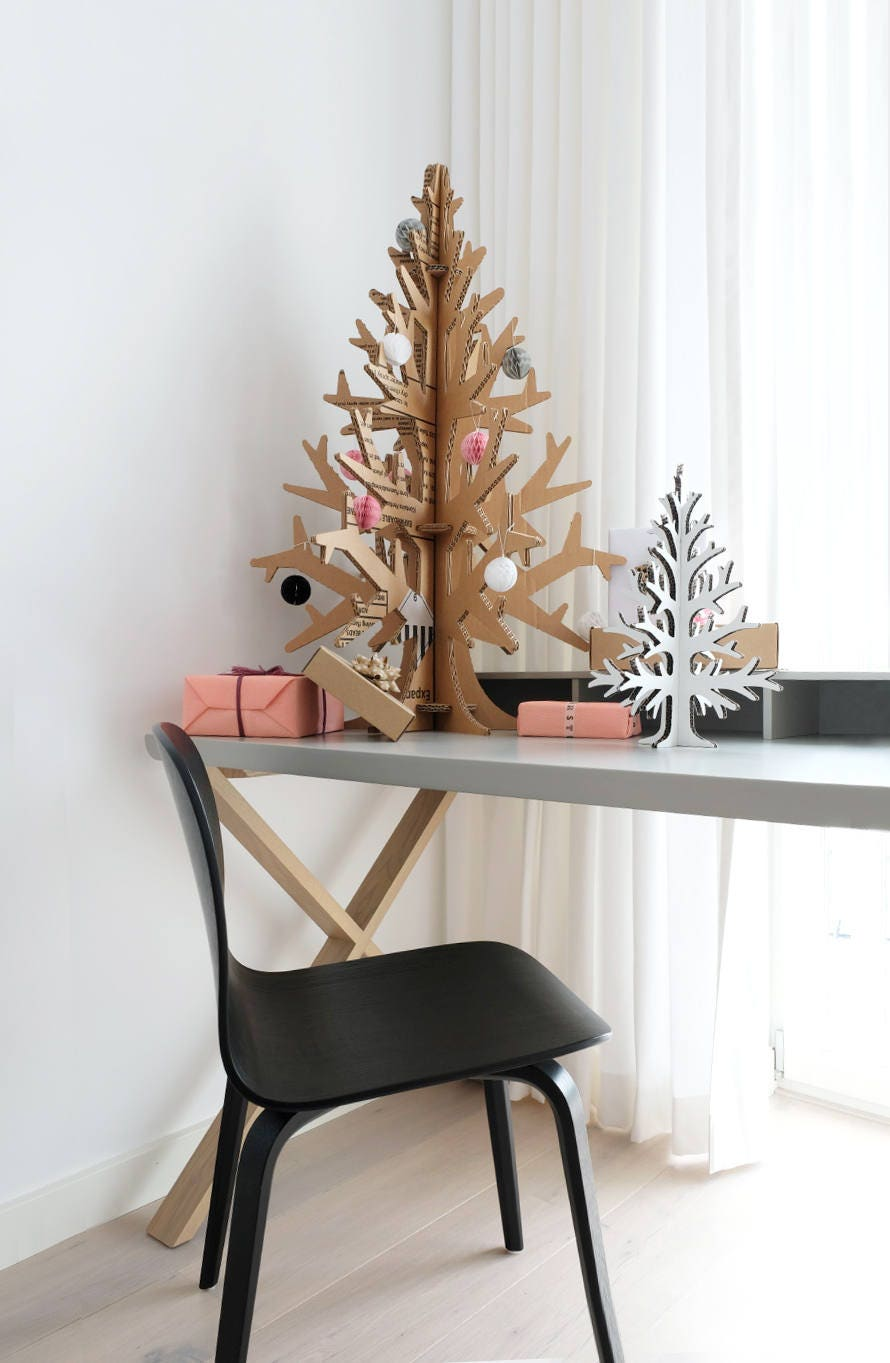 90 Cm 295 Laser Cut Cardboard Cutout Christmas Tree