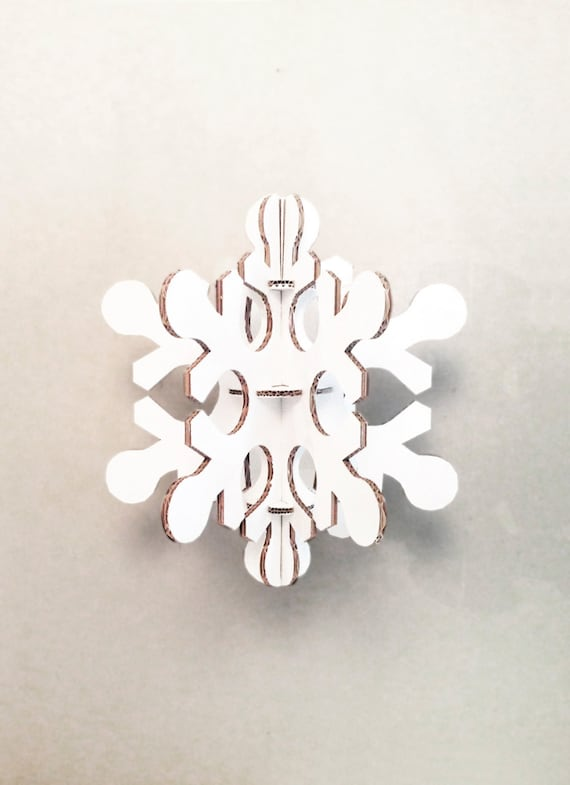 White cardboard snowflake, Medium size christmas party decoration, Christmas Decor, Christmas Home Decor, Christmas Decor Ideas