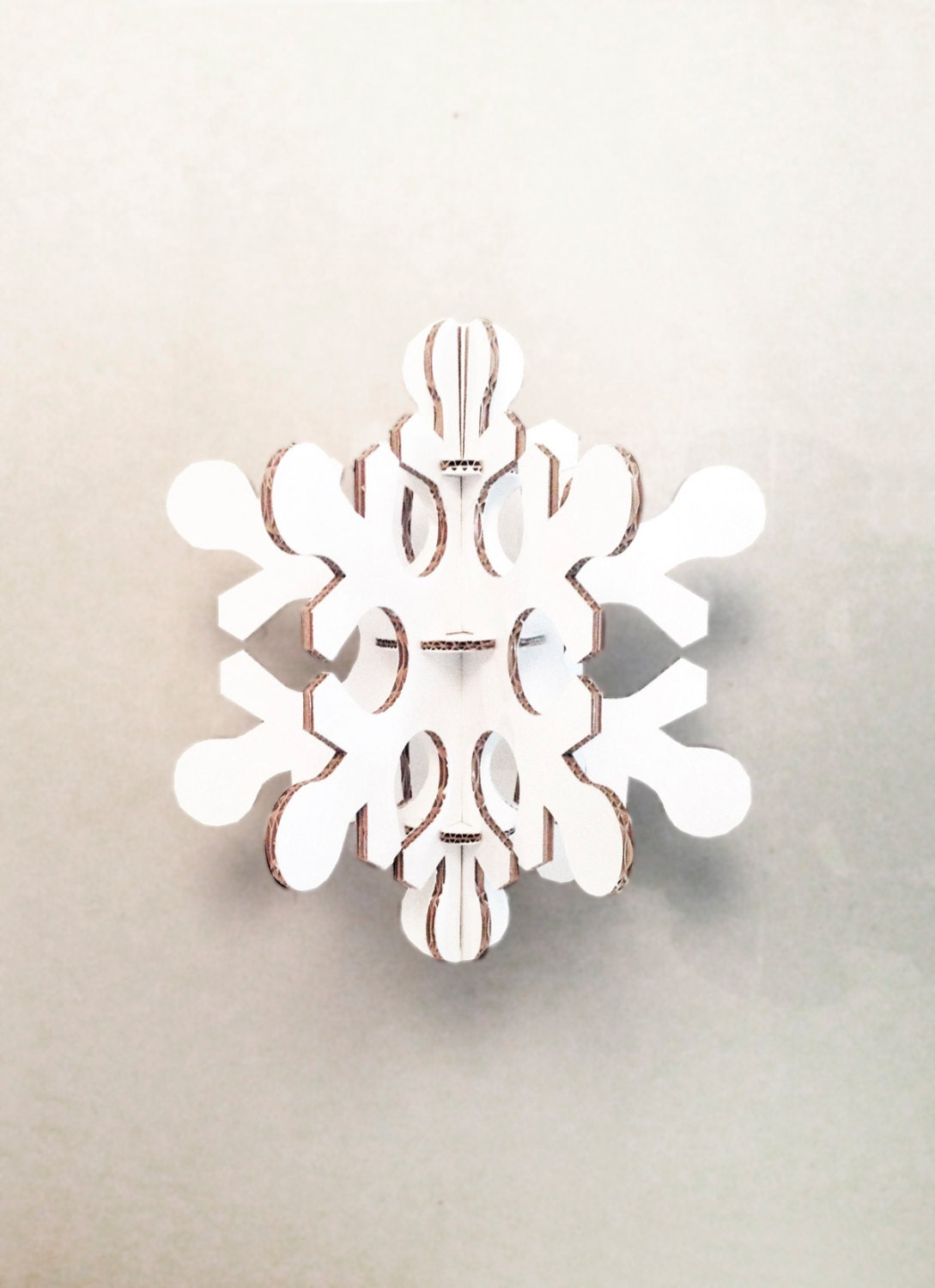 White Cardboard Snowflake Medium Size Christmas Party