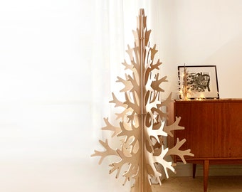 Beautiful plywood Christmas Tree digital file, cnc route file, cnc template