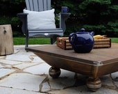 """30"""" square Fire Pit, Solid Steel Wood Stove USA Campfire, Outdoor pit. Made of 3/16"""" thick steel plates."""