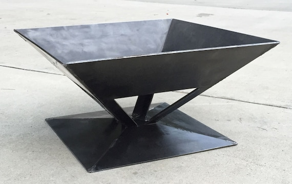 NEW Outdoor Pit FPRF03 26 Square Hex Fire Pit Solid Steel Wood Stove USA Campfire