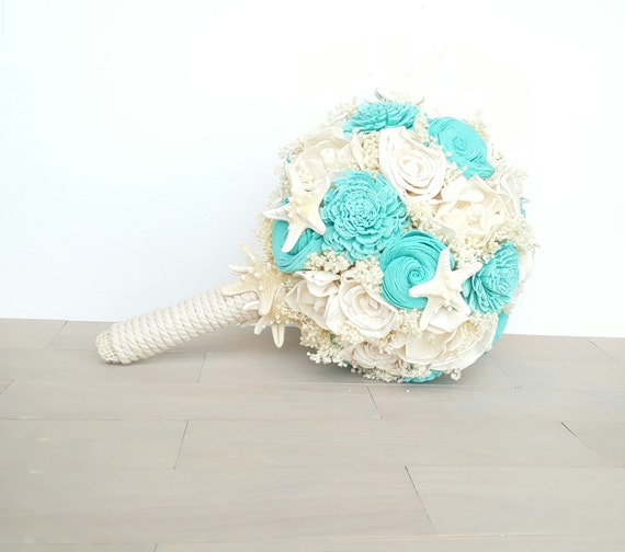 Teal Beach Wedding Bouquet