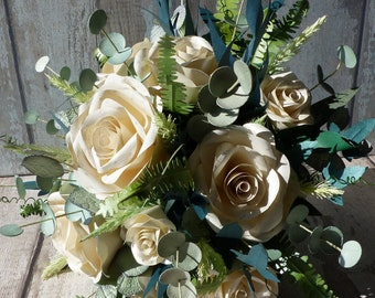 True to nature paper flower bouquet and accessories