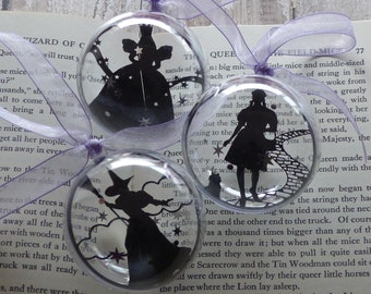 Wizard of Oz bauble trio Glinda the Good Wicked witch of the west Dorothy and Toto