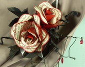 Dracula rose hairclip or corsage
