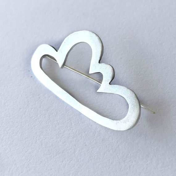 Silver Cloud Brooch / Handcrafted Jewelry / 'Silver Lining' Brooch / Cloud Outline Brooch / Handcrafted Silver Jewelry