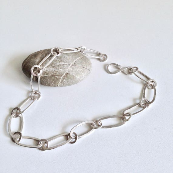Handmade Silver Chain / Handcrafted Jewellery / Handcrafted Silver Necklace