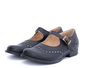 e7a3ad2c0f1 Black Mary Janes women s leather shoes