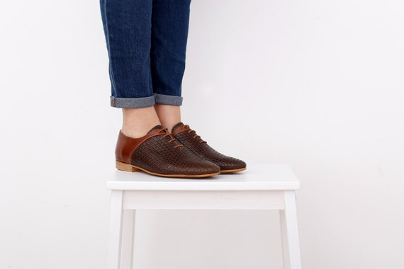 flats brown SALE shoe unique ADIKILAV handmade shoes ON Womens wide pointy leather HqcwTRqpC6
