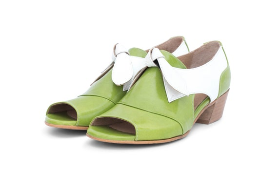 de verts sandales femme large Sandales cuir Z147qwOTO