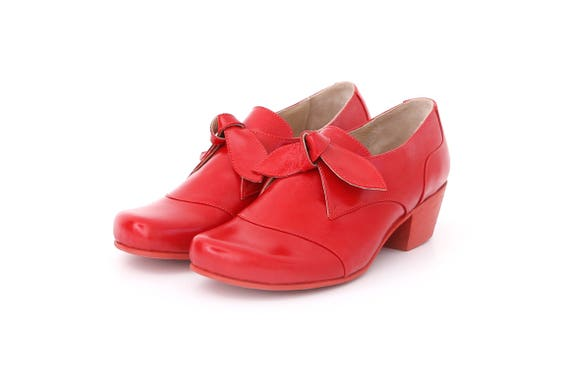 a1831c2aa2153b Red shoes Women s leather shoes in Red patent leather and