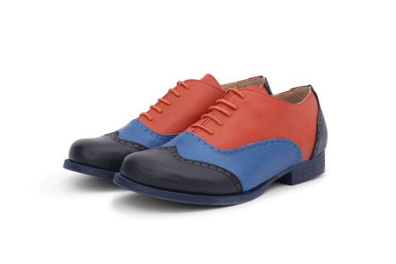 Colorful oxford shoes womens brogues