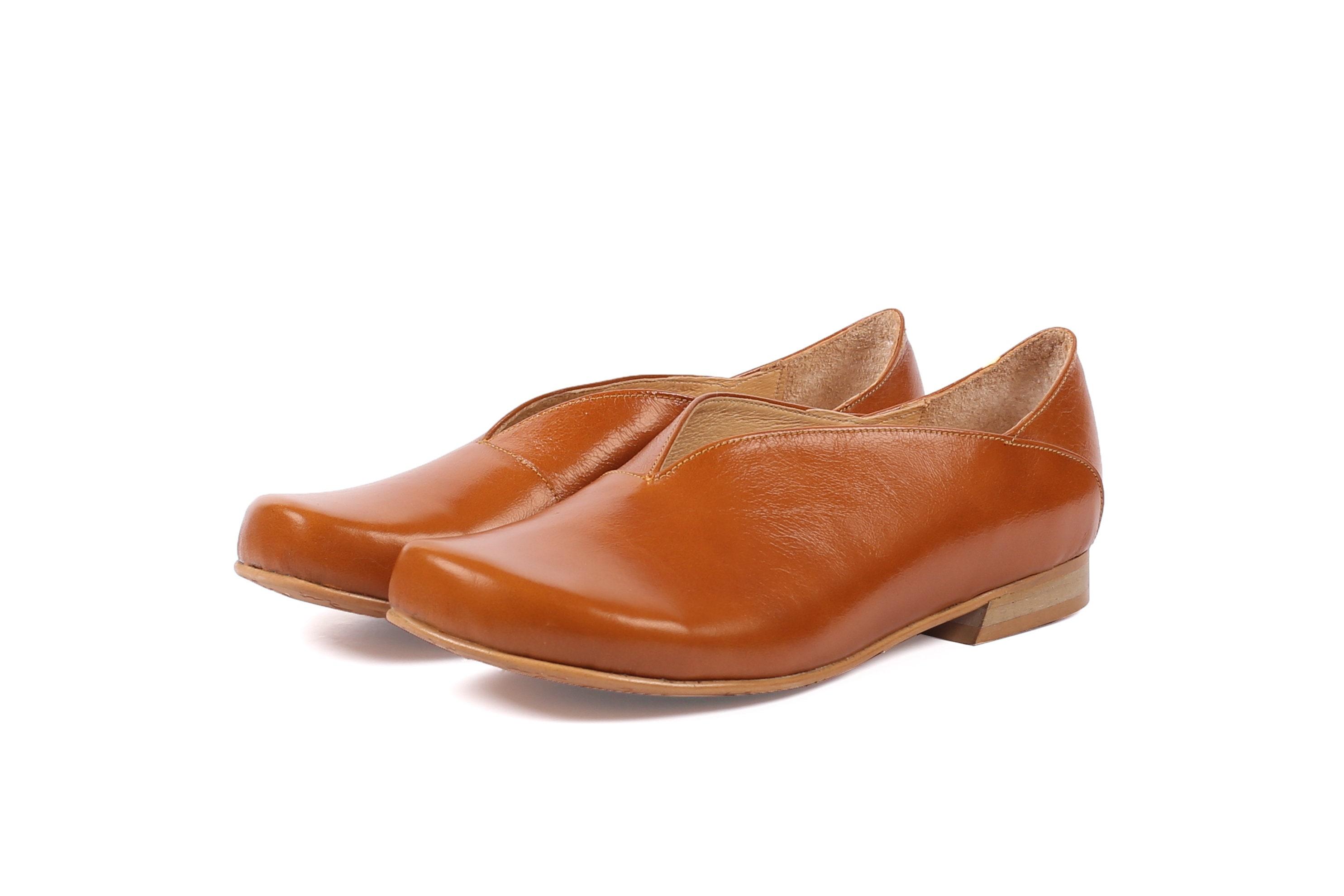 96fbc059afd95 Women's shoes wide flats brown handmade free shipping ADIKILAV