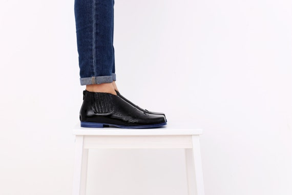 leather oxford patent free handmade SALE ON Women's ADIKILAV black shoes shoes style casual Flat shipping qwtw8vC6I